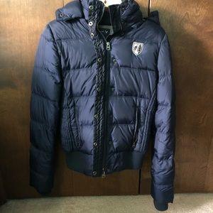Navy AE puffer winter jacket